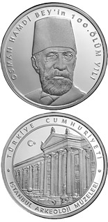 50 Lira 100th Anniversary of the Death of Osman Hamdi Bey  - 2010 - Series: Silver 50 Lira coins - Turkey