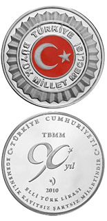 50 Lira coin Grand National Assembly of Turkey  | Turkey 2010