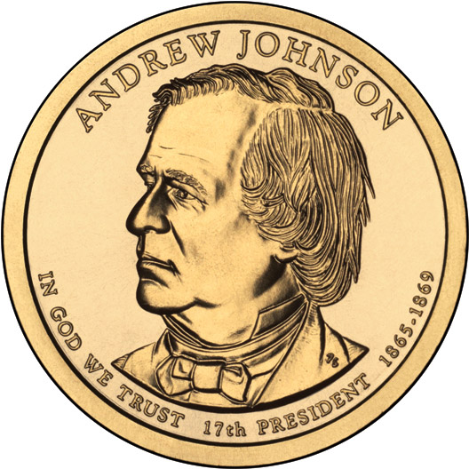 Image Of 1 Dollar Coin Andrew Johnson 1865 1869 Usa 2017