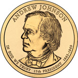 1 dollar Andrew Johnson (1865-1869) - 2011 - Series: The Presidential 1 Dollar Coins - USA