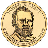 1 dollar Ulysses S. Grant (1869-1877) - 2011 - Series: The Presidential 1 Dollar Coins - USA