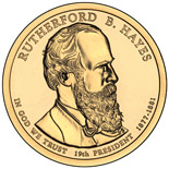 1 dollar Rutherford B. Hayes (1877-1881) - 2011 - Series: The Presidential 1 Dollar Coins - USA