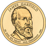 1 dollar James Garfield (1881) - 2011 - Series: The Presidential 1 Dollar Coins - USA