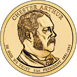 1 dollar Chester A. Arthur (1881-1885) - 2012 - Series: The Presidential 1 Dollar Coins - USA