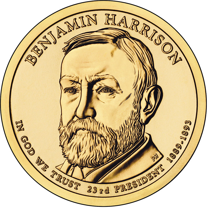 1 dollar Benjamin Harrison (1889-1893) - 2012 - Series: The Presidential 1 Dollar Coins - USA