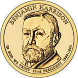 1 dollar coin Benjamin Harrison (1889-1893) | USA 2012