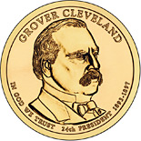 1 dollar Grover Cleveland (1893-1897) - 2012 - Series: The Presidential 1 Dollar Coins - USA