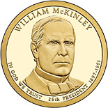 1 dollar William McKinley (1897-1901) - 2013 - Series: The Presidential 1 Dollar Coins - USA