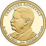 1 dollar Theodore Roosevelt (1901-1909) - 2013 - Series: The Presidential 1 Dollar Coins - USA