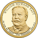 1 dollar William Howard Taft (1909-1913) - 2013 - Series: The Presidential 1 Dollar Coins - USA