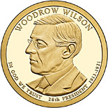 1 dollar Woodrow Wilson (1913-1921) - 2013 - Series: The Presidential 1 Dollar Coins - USA