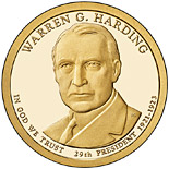 1 dollar coin Warren Harding (1921-1923) | USA 2014
