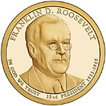 1 dollar Franklin D. Roosevelt (1933-1945) - 2014 - Series: The Presidential 1 Dollar Coins - USA