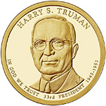 1 dollar Harry S. Truman (1945-1953) - 2015 - Series: The Presidential 1 Dollar Coins - USA