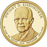 1 dollar Dwight D. Eisenhower (1953-1961) - 2015 - Series: The Presidential 1 Dollar Coins - USA