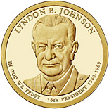 1 dollar coin Lyndon B. Johnson (1963-1969) | USA 2015