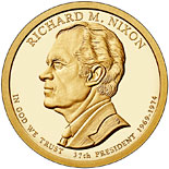 1 dollar Richard M. Nixon (1969-1974) - 2016 - Series: The Presidential 1 Dollar Coins - USA