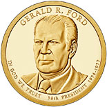 1 dollar coin Gerald Ford (1974-1977) | USA 2016