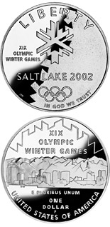 1 dollar Olympic Winter Games  - 2002 - Series: Commemorative silver 1 dollar coins - USA