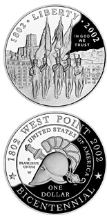 0.5 dollar coin West Point Bicentennial  | USA 2002
