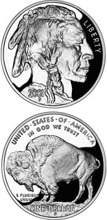 1 dollar coin American Buffalo  | USA 2001