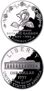 1 dollar coin Botanic Garden  | USA 1997