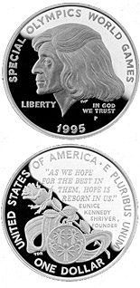 1 dollar Special Olympics World Games  - 1995 - Series: Commemorative silver 1 dollar coins - USA