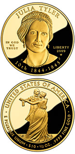 10 dollars Julia Tyler  - 2009 - Series: First Spouse Gold Coins - USA