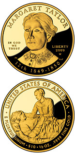 10 dollars Margaret Taylor  - 2009 - Series: First Spouse Gold Coins - USA