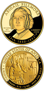 10 dollars Abigail Fillmore  - 2010 - Series: First Spouse Gold Coins - USA