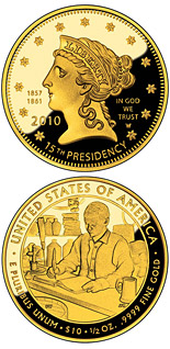 10 dollars James Buchanan's Liberty  - 2010 - Series: First Spouse Gold Coins - USA