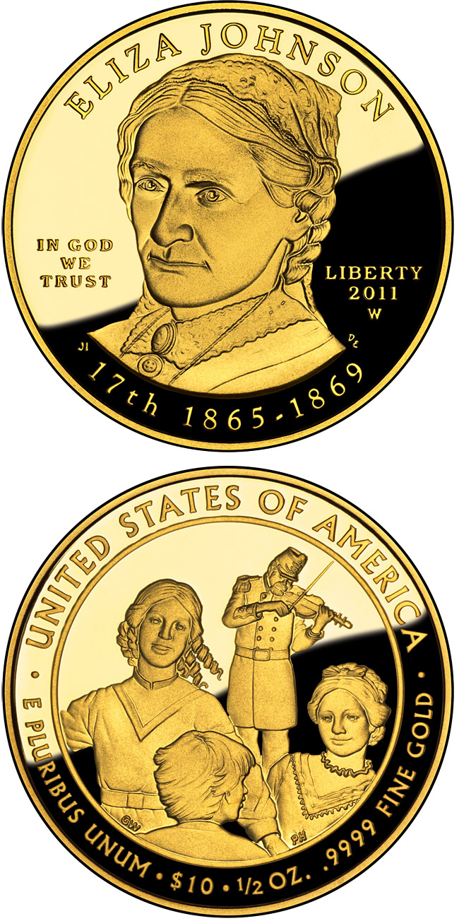 10 dollars Eliza Johnson  - 2011 - Series: First Spouse Gold Coins - USA
