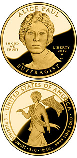10 dollar coin Alice Paul | USA 2012