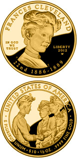 10 dollar coin Frances Cleveland  | USA 2012