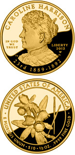 10 dollars Caroline Harrison  - 2012 - Series: First Spouse Gold Coins - USA