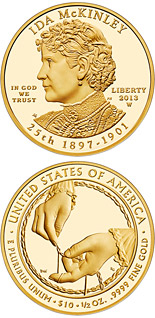 10 dollar coin Ida McKinley  | USA 2013