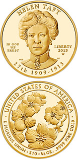 10 dollar coin Helen Taft  | USA 2013