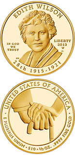 10 dollar coin Edith Wilson  | USA 2013