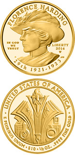 10 dollars Florence Harding  - 2014 - Series: First Spouse Gold Coins - USA
