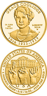 10 dollars Grace Coolidge  - 2014 - Series: First Spouse Gold Coins - USA