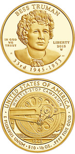 10 dollars Elizabeth Truman  - 2015 - Series: First Spouse Gold Coins - USA