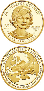 10 dollar coin Jacqueline Kennedy  | USA 2015