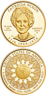 10 dollar coin Patricia Ryan (Pat) Nixon  | USA 2016