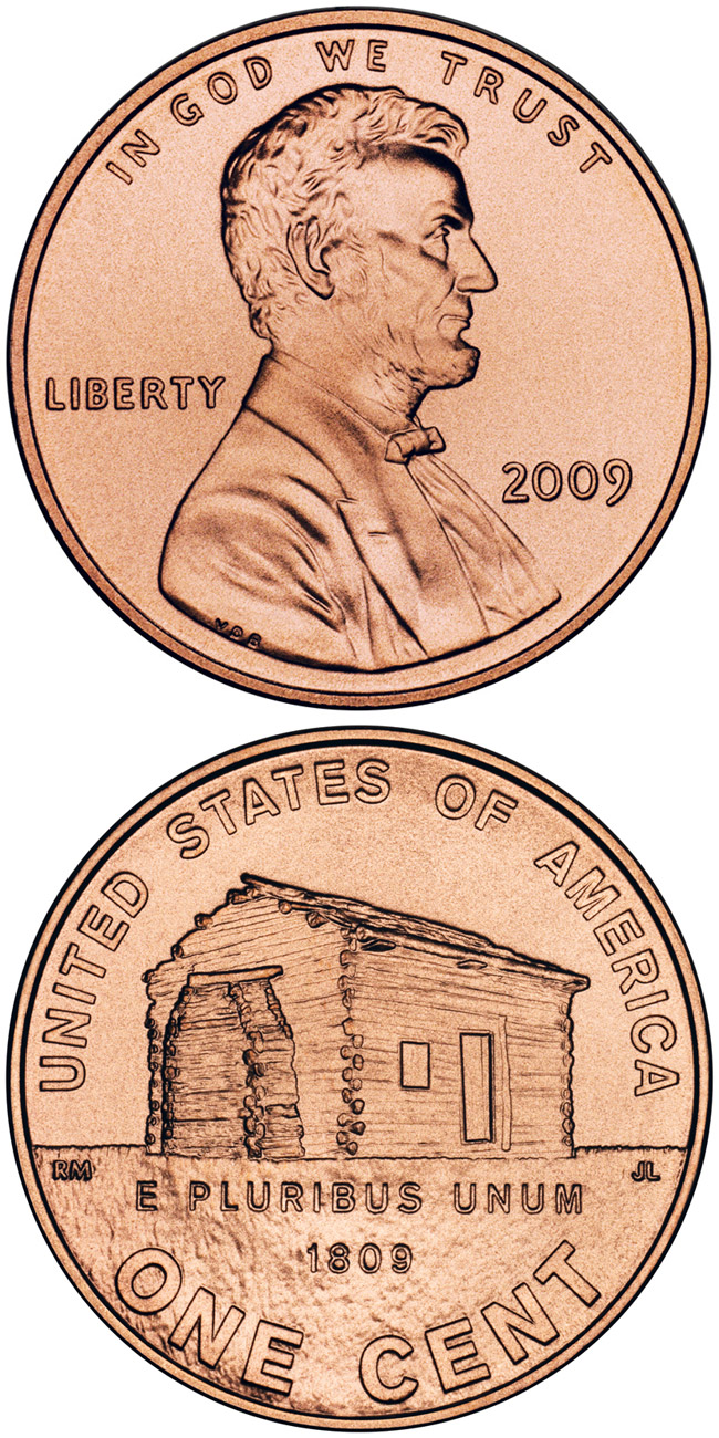 Image of 1 cent coin - Lincoln – Birth and Early Childhood in Kentucky  | USA 2009