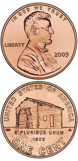 1 cent coin Lincoln – Birth and Early Childhood in Kentucky  | USA 2009