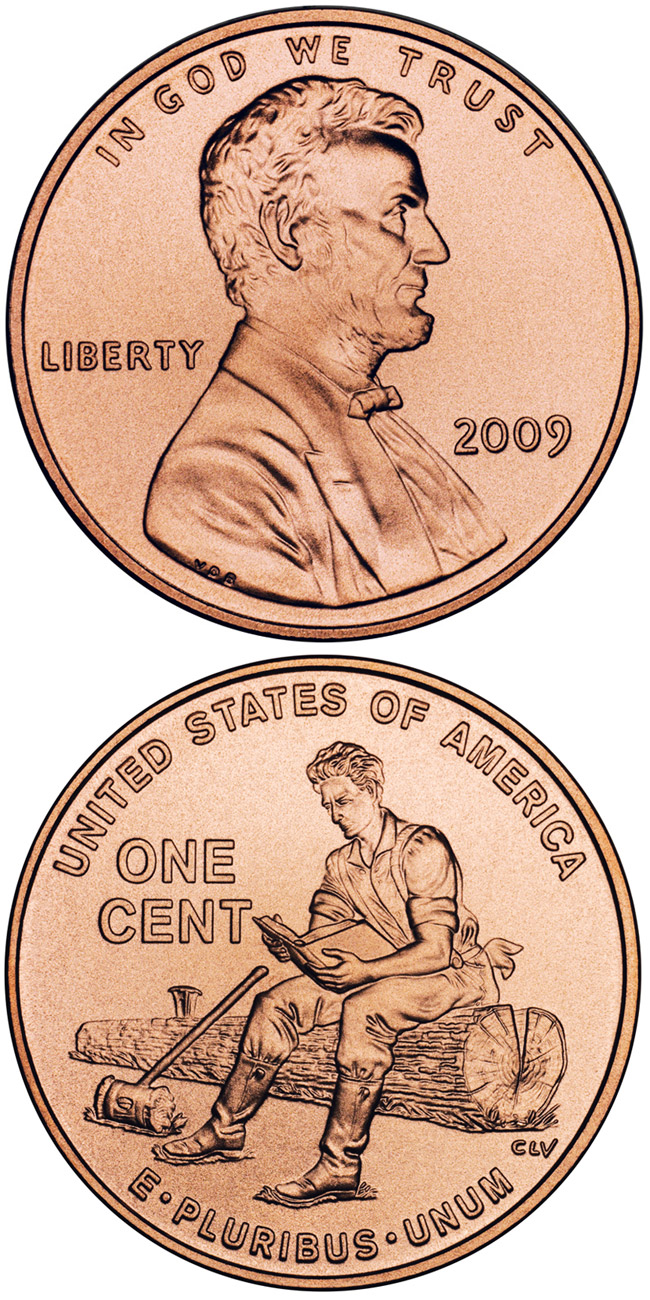 Image of Lincoln – Formative Years in Indiana  – 1 cent coin USA 2009