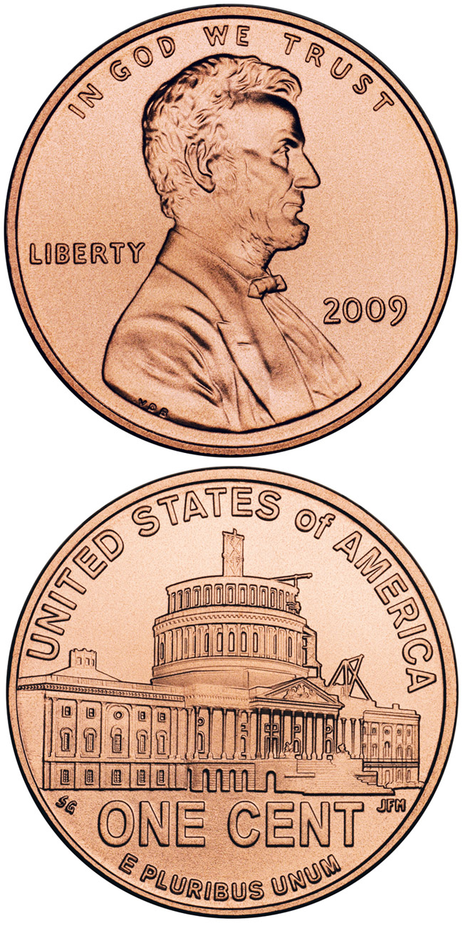 1 Cent Coin Lincoln Presidency In Dc Usa 2009
