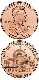 1 cent coin Lincoln – Presidency in DC  | USA 2009