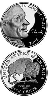 5 cent coin American Bison  | USA 2005