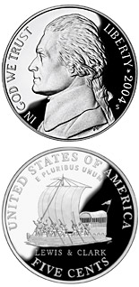 5 cent coin Keelboat  | USA 2004